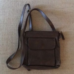 Relic Crossbody Brown Leather Purse